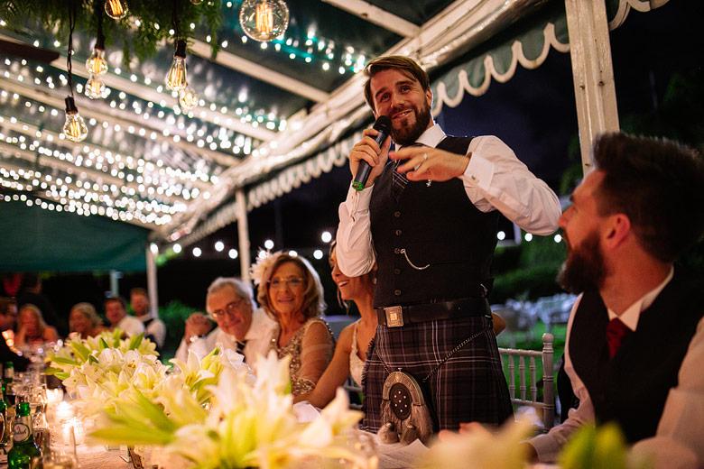 speaches wedding
