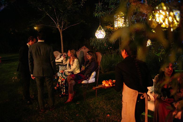 recepcion de noche en La Herencia