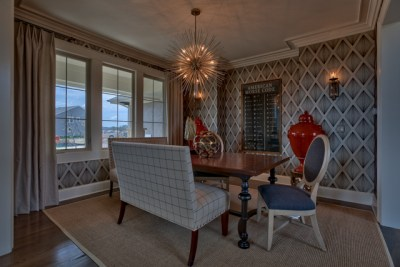 Dining room of the Chesapeake model home in Summerwood
