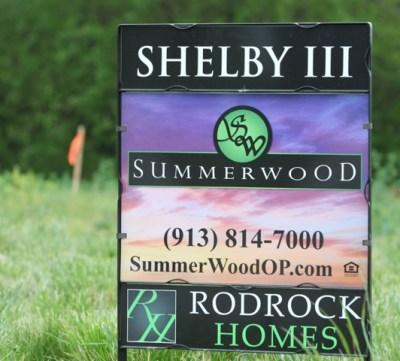 Shelby III / Summerwood yard sign