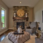 Anthem reverse hearth room with stone fireplace