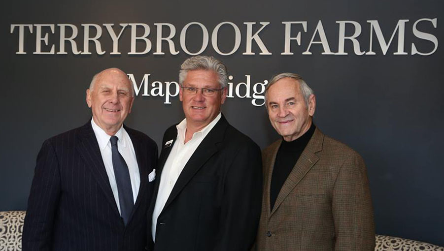 Terrybrook Farms Developers Brian Rodrock and Don Julian pictured with Jerry Reece