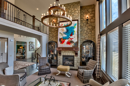 Two Story Great Room of the Chesapeake II model home