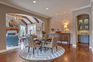 The Dining Room of a custom build job in Leawood