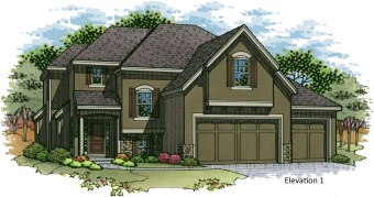 Destin EX elevation 1 color rendering