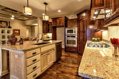 Dillon kitchen with stained cabinets