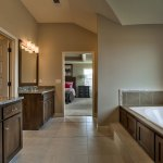 Irving Master bath tub and vanities