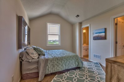 Lancaster 4.5 secondary bedroom with angled ceiling
