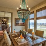Lancaster III Breakfast Area with turquoise light fixture