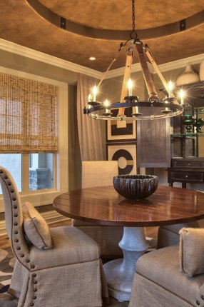 The Dining Room of the Larsen II Model Home in Wyngate.