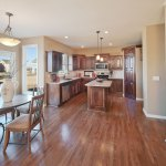 Madison kitchen and breakfast area with hardwood floors