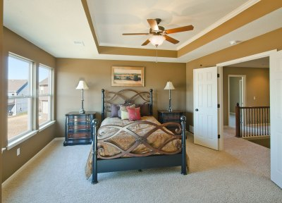 Madison master bedroom with double doors