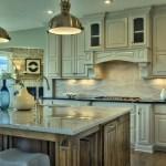 Larsen EX kitchen with white enamel cabinets