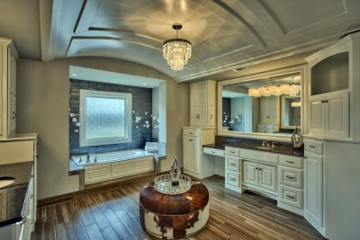 Larsen EX Master bath with barrel ceiling