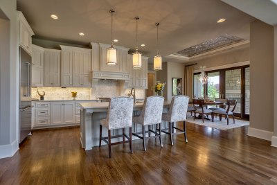 Custom built home kitchen and breakfast area