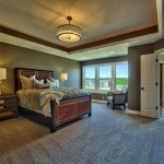 Roanoke master bedroom with light tray ceiling