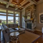 Summerlin EX great room with boxed ceiling