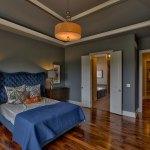 Summerlin EX master bedroom with grey walls