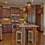 Wakefield kitchen with stained cabinets