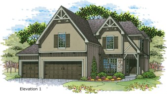 Weston III Elev. 1 color rendering