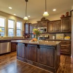 Destin kitchen with stained cabinets