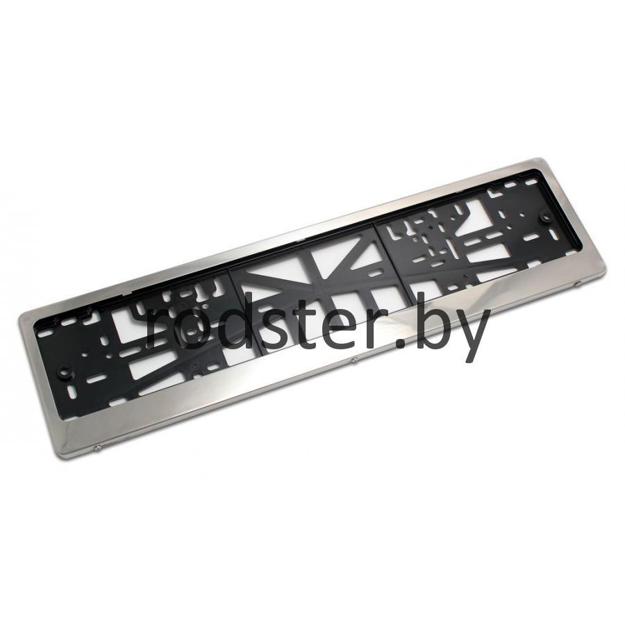 Рамка номерного знака хром LF203 пластик метал в