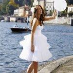 ФОТО короткого пышного свадебного платья