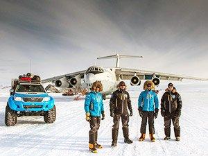 Начало экскурсии по Южному полюсу