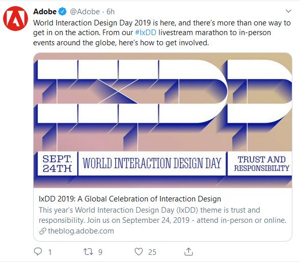 Adobe Twitter