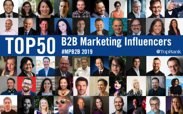 B2B Marketing Influencers 2019