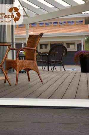 high-performance composite decking used on porches and lanai decks