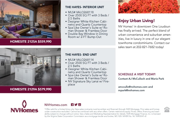 Enjoy Urban Living? Quick move-in opportunities in One Loudoun