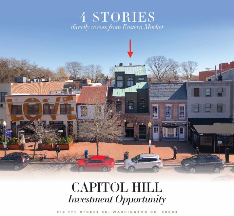 Mixed Use, New Price, Huge Commercial Townhouse Eastern Market-Capitol Hill