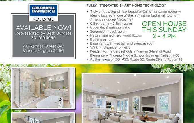 Price Reduction House for Sale in Vienna, VA 22180. Just $1,425,000 to you!