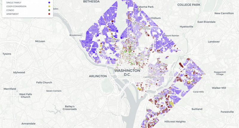 Single-family homes take up a lot of space in the District – Greater  Greater Washington