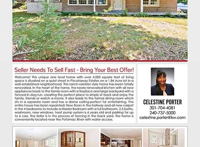 13200 Piscataway Drive, Fort Washington, MD 20744 Price Reduction Sale