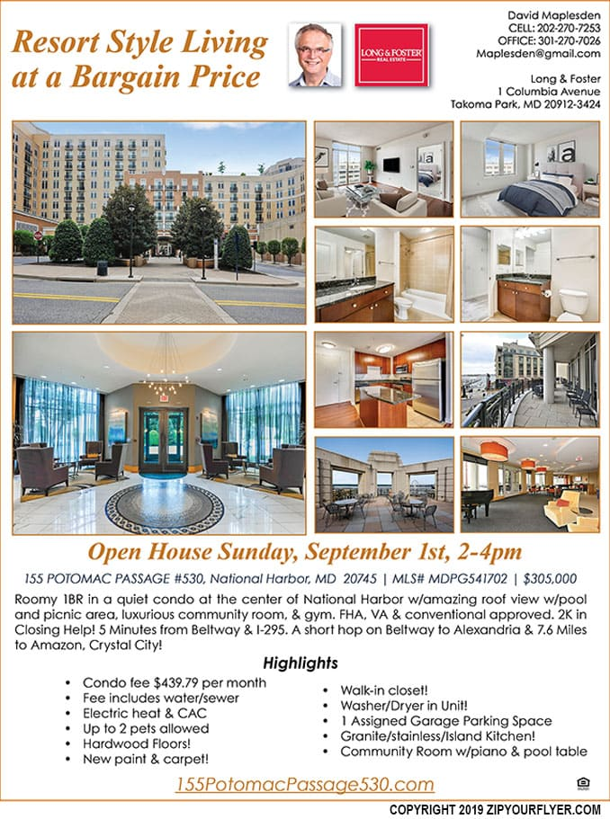 155 Potomac Passage 530, National Harbor, MD20745 is $305,000