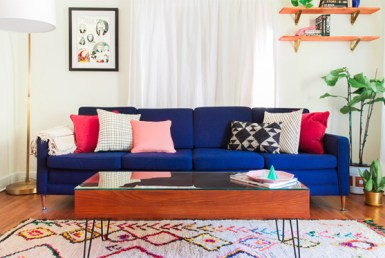 HouseLogic blue couch