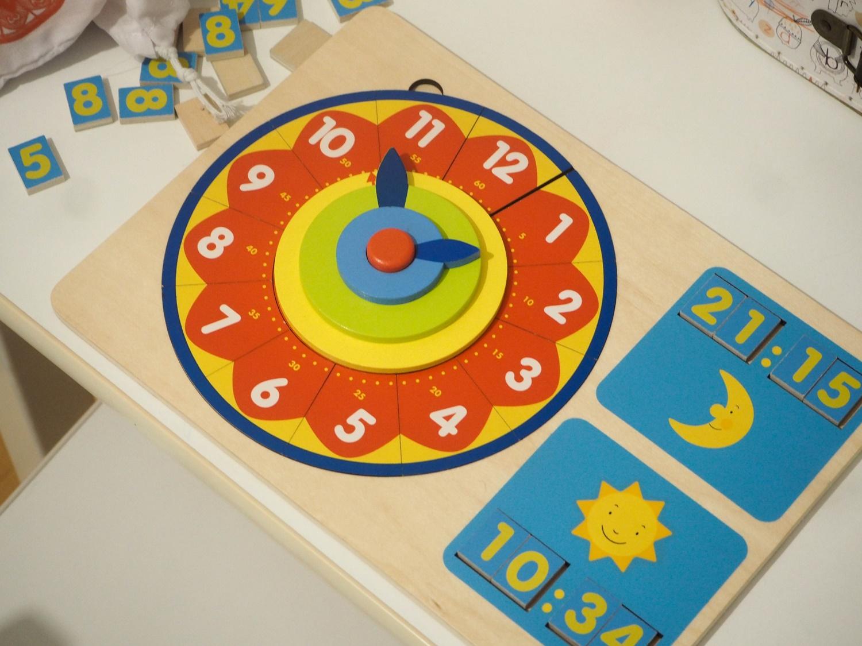 Zegar do nauki godzin- idealna propozycja do nauki czasu dla przedszkolaka