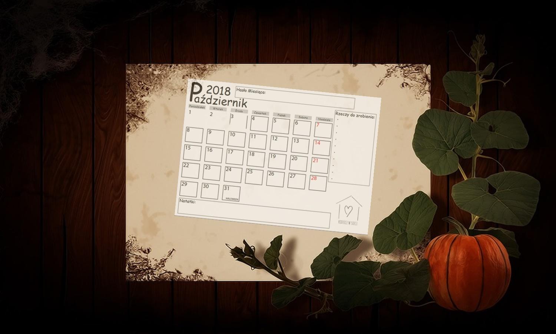 Darmowy kalendarz na październik do pobrania- pobierz, drukuj, planuj.