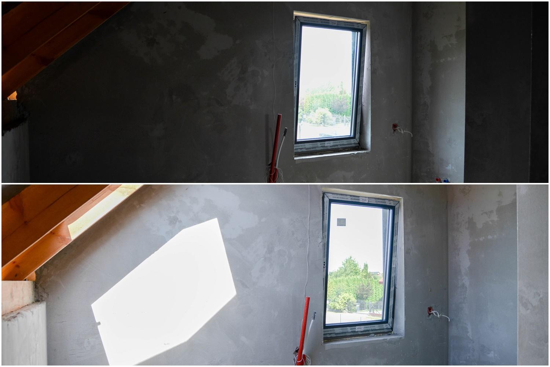 Dom w Zdrojówkach- dodatkowe okna dachowe Velux w projekcie. Efekt PRZED i PO- efekt WOW!