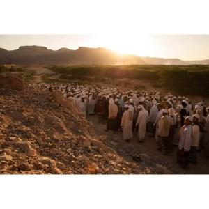 Walking to Magrib Prayer