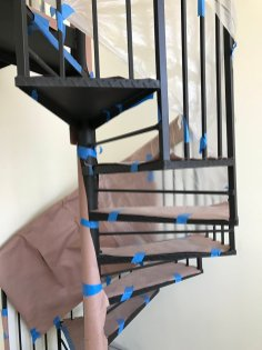 finish paint on stairs