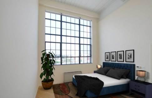 Roomy lower bedroom