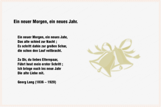 Ein neuer Morgen, ein neues Jahr – Georg Lang