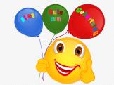 Smiley – Luftballons – Alles gute zum Geburtstag