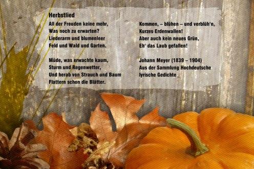 Herbstlied – Johann Meyer