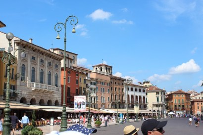 Fast forward to Verona. This is Piazza Brà.