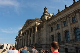 United at last! Here we are at our scheduled visit to Reichstag.