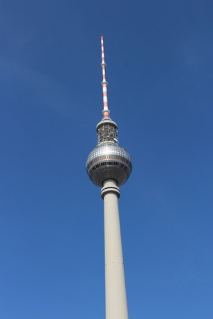 The famous Fernsehturm, or the TV tower of Berlin.